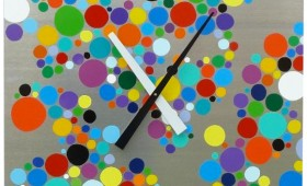 24 x 24 Multicolored Dot Clock