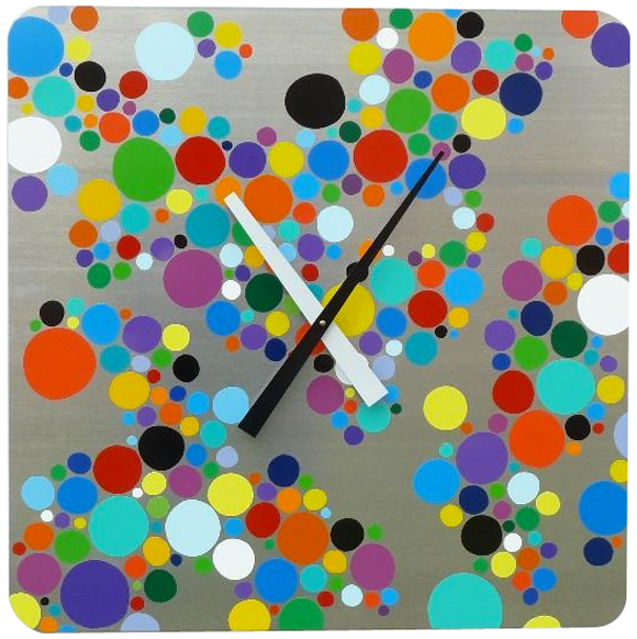 Multi-Colored Super Big Dot Clock