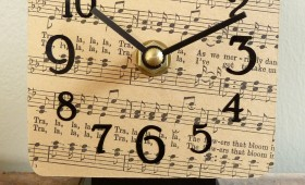 Sheet Music Desk Clock Collection