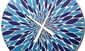 30 Inch Blue Orzo Burst Circle Clock