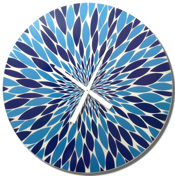 "30"" diameter Blue Burst clock"