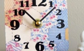 Tabletop Faux Quilt Clocks