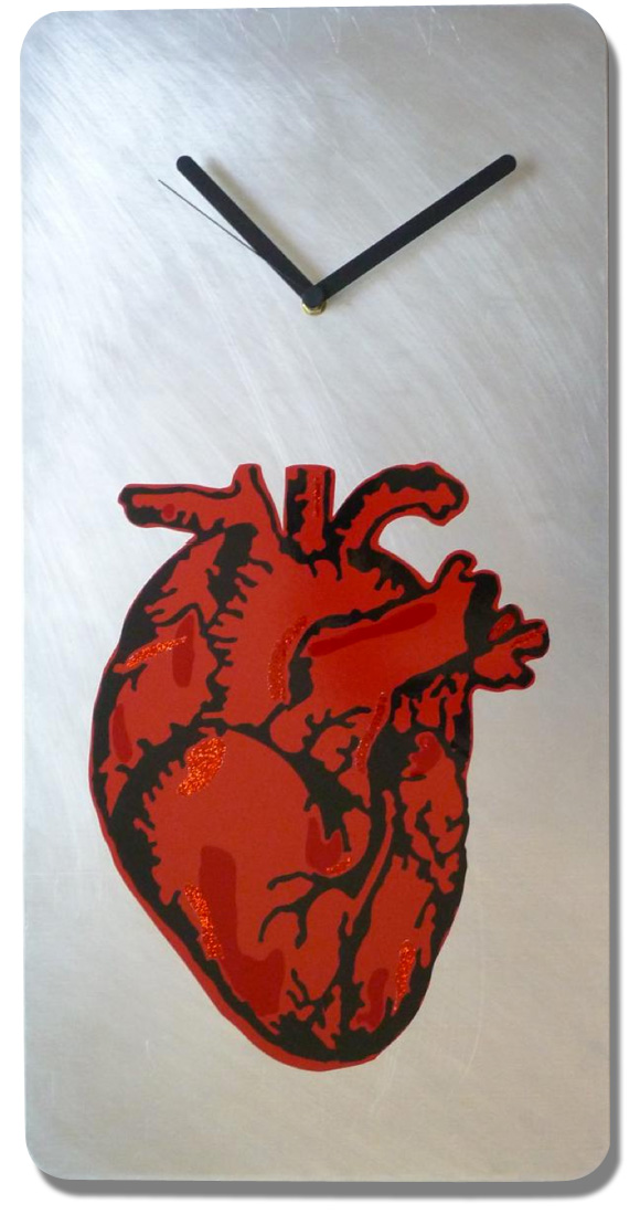 Extra Large anatomical heart clock