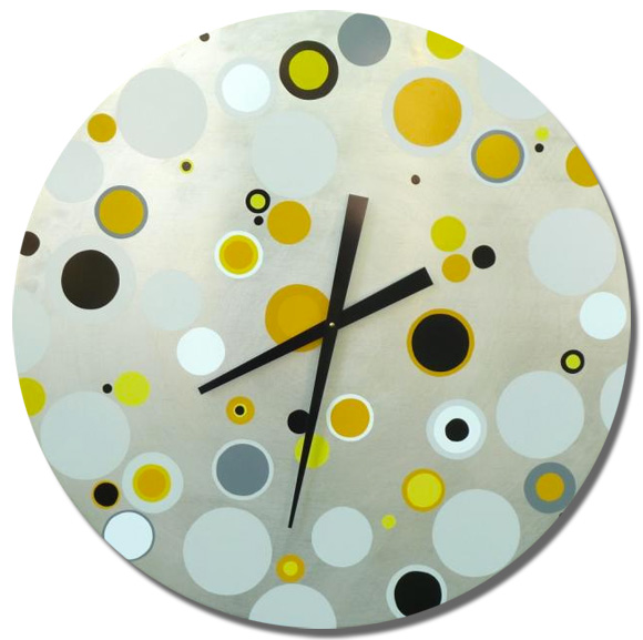 "30"" diameter aluminum  with yellow, black and grey"