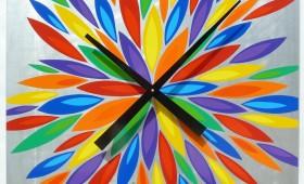 24 x 24 Multi-Colored Orzo Burst Clock